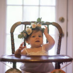 Lainey Grace with a flower crown.  photo by Amazin Grace Photography MS