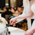 Cake cutting details - photo by Zoe Life Photography