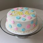 Polkadot Gender Reveal Cake