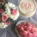 Monogram Baby Shower Cake