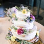 Wildflower Wedding Cake - photo by Chelsea Rochelle