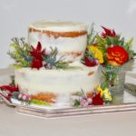 Wildflower Elopement Cake