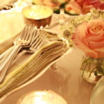 All about the details...forks and napkins in a beautiful silver tray
